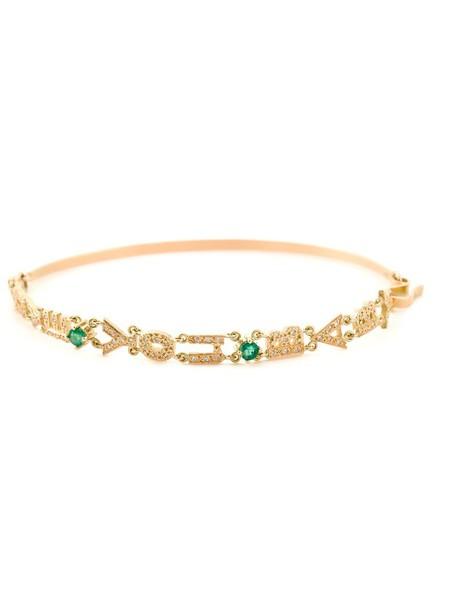 Natasha Zinko women baby love gold grey metallic jewels
