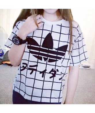 top adidas grid plaid t-shirt tumblr pale grunge japan checkered hipster swag trendy adidas wings adidas originals tumblr shirt it girl shop adidas sweater