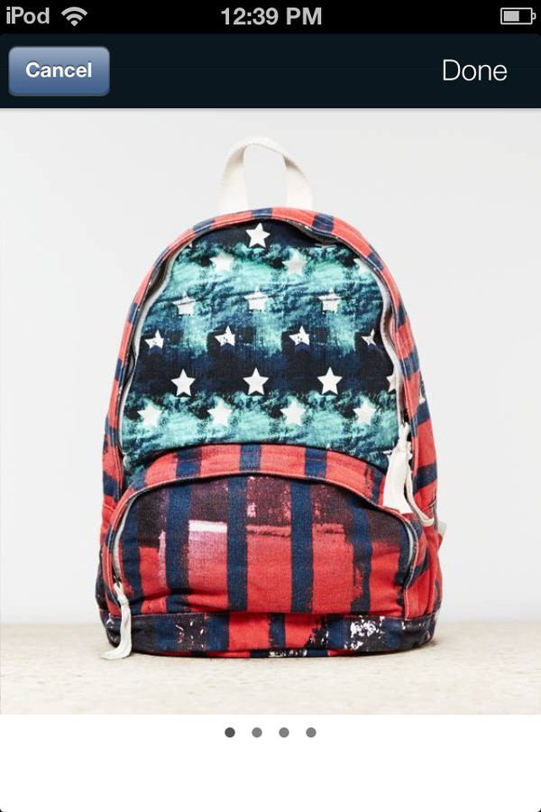 bag red white blue