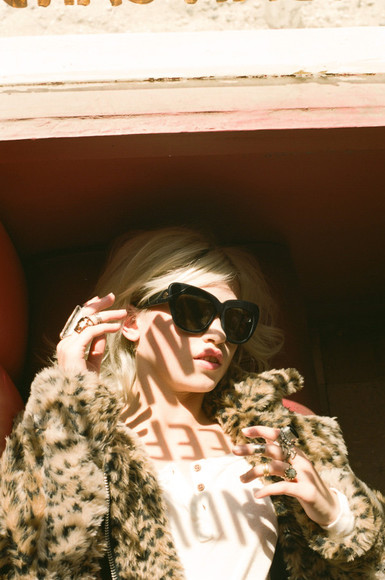 leopard print leopard print jacket sunglasses jacket coat winter coat nasty gal nastygal big sunglasses shades leopard jacket lookbook leopard coat