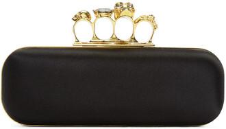 clutch black satin bag