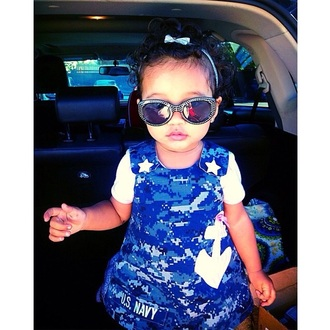 sunglasses hair bow navy dress navy style fashion toddler kids fashion