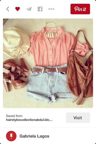 blouse pink pinterest shorts