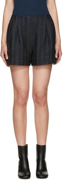 3.1 Phillip Lim shorts jacquard navy black