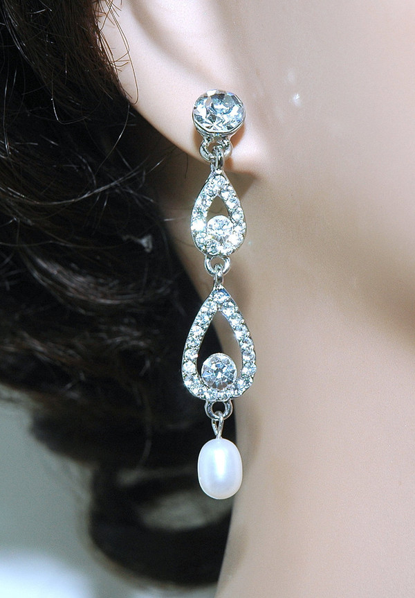 Jewels earrings jewelry cryctal dangle wedding for Same day jewelry repair