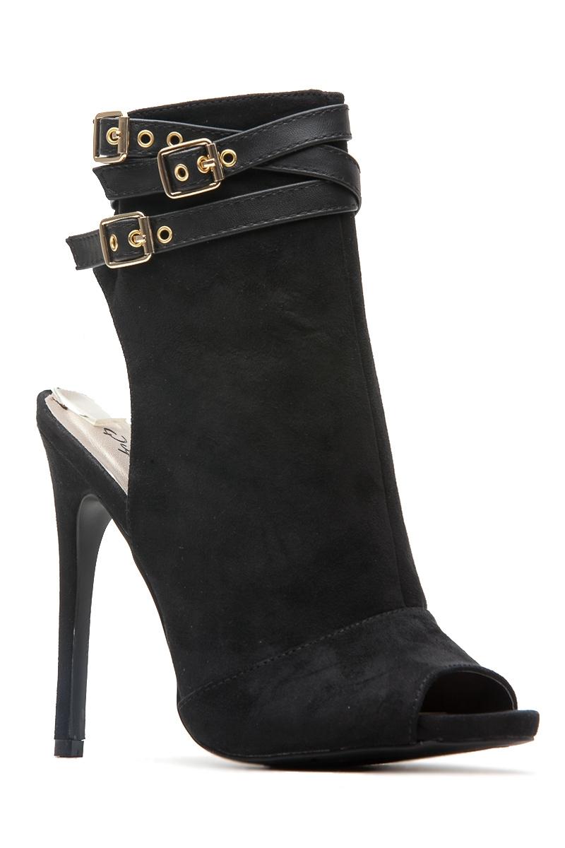 Black High Heel Shoe Boots
