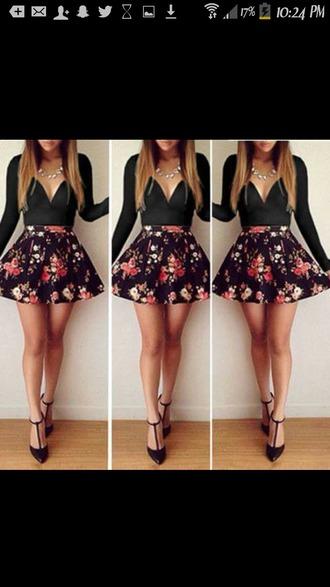 dress flowered shorts summer dress summer shorts