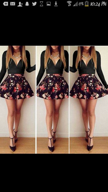 dress flowered shorts summer dress summer shorts
