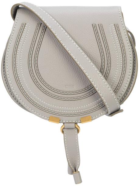 women bag shoulder bag leather cotton grey