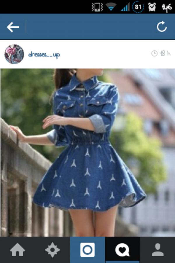 dress blue dress blue white summer summer dress outfit summer outfits