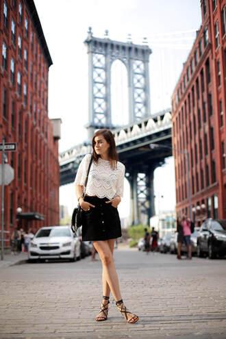 style scrapbook blogger shoes bag top skirt