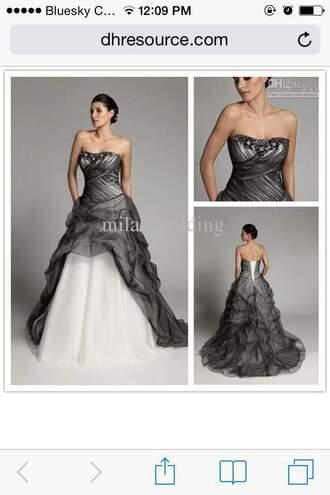 dress black white strapless wedding dresses wedding dress black and white two tone dress