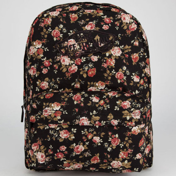 floral bag backpack vans fall outfits