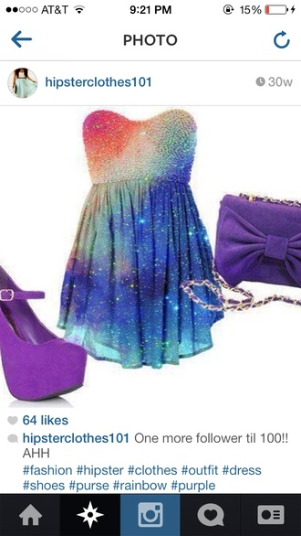dress galaxy dress galaxy print purple dress stars