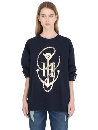 sweatshirt anchor navy sweater