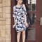 Tricia gosingtian - motel rocks savannah cold shoulder dress in dahlia navy, emoda heels, emoda earrings, 3.1 phillip lim bag - 071414 | lookbook