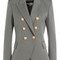 Wool blazer with embossed buttons