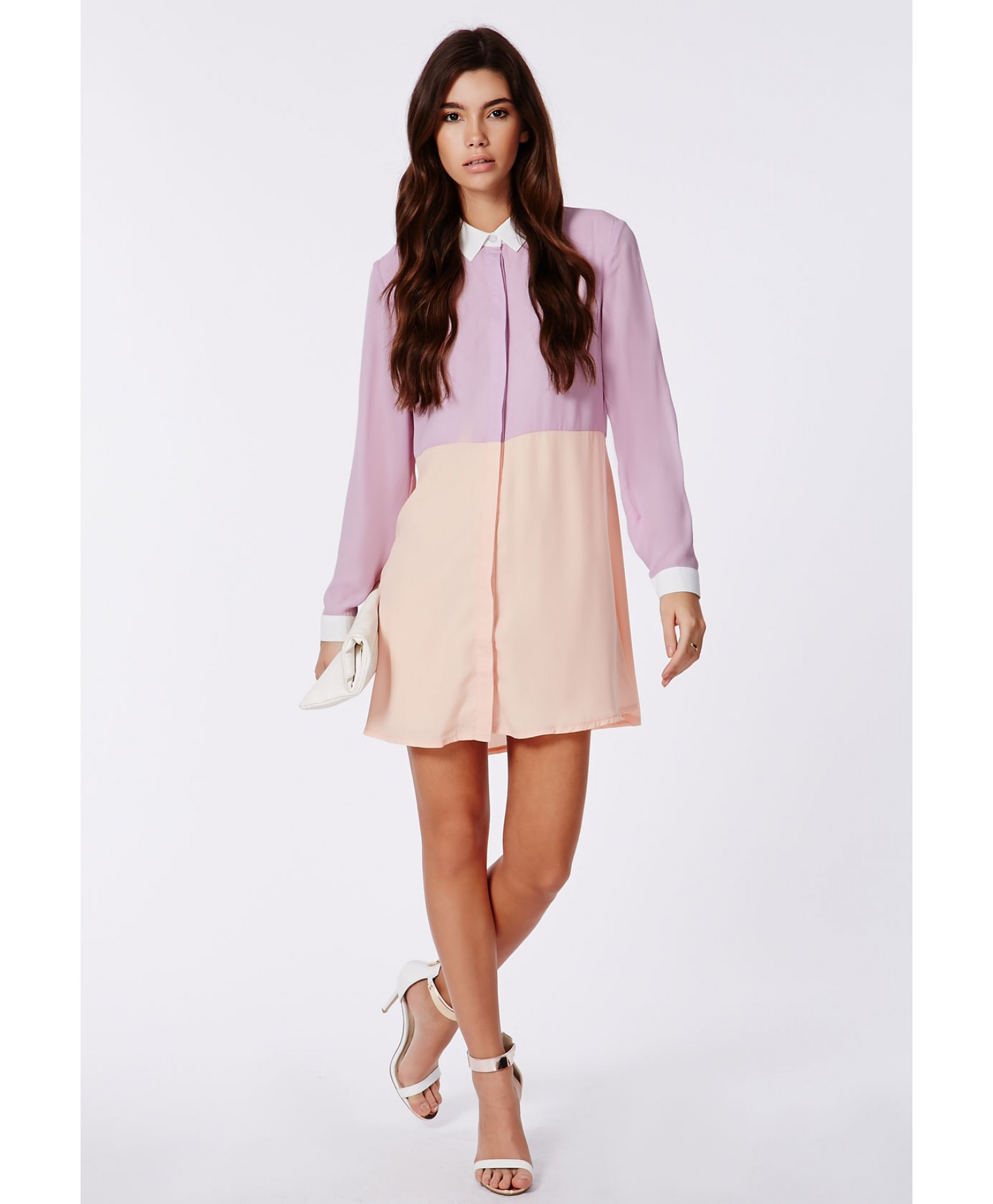 Missguided - Maya Colour Block Shirt Dress