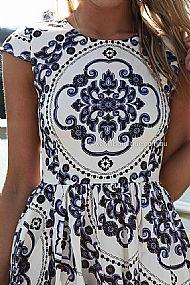 Paisley print dress , dresses, tops, bottoms, jackets & jumpers, accessories, 50% off sale, pre order, new arrivals, playsuit, colour, gift voucher,,blue,white,print,short sleeve,mini australia, queensland, brisbane