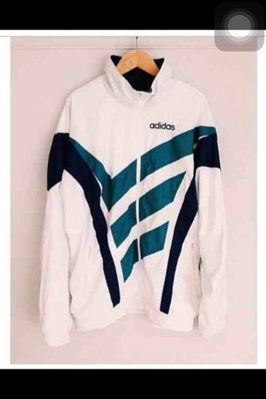 turquoise jacket adidas windbreaker zip up