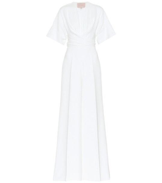 Roksanda Tullus bridal silk-blend jumpsuit in white