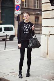 sweater,black,white,science,nerd