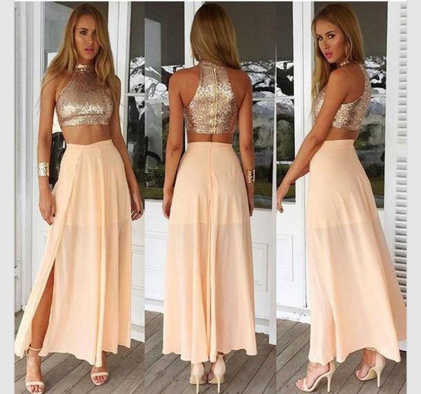 Gold chiffon maxi skirt - Gold Chiffon Maxi Skirt – Modern Trending Things Photo Blog