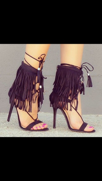 shoes heels high heels black black heels sandals fashion