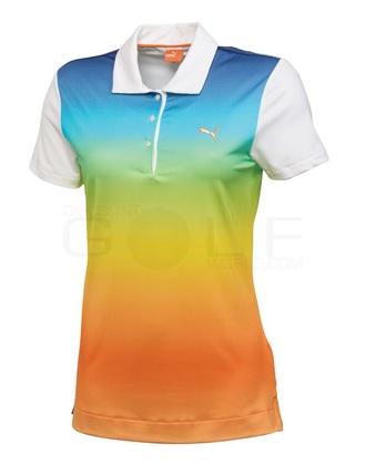 t-shirt puma golf polo ombre colorful rainbow