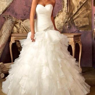 wedding dress mermaid wedding dresses ruffle dress