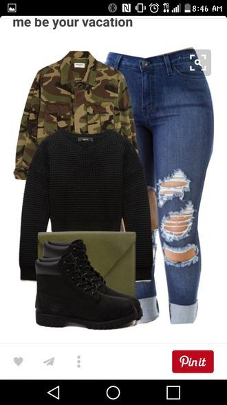 coat camo jacket camouflage