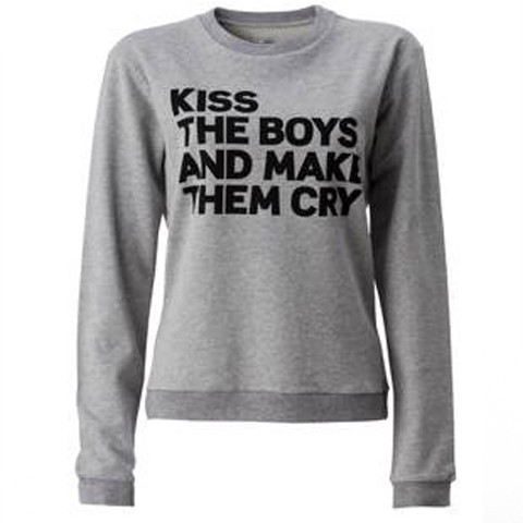 Kiss The Boys and Make Them Cry Grey – Mademoiselle's tee