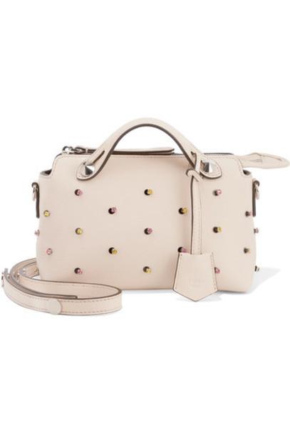 mini embellished bag shoulder bag leather cream