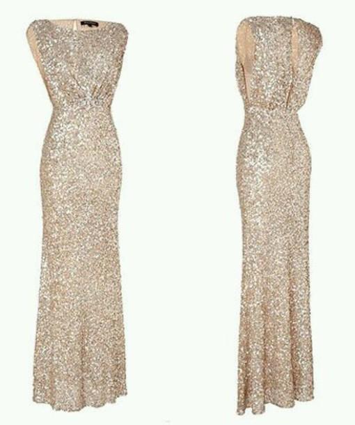 dress gold dress sequin dress gold sequins bridesmaid long bridesmaid dress