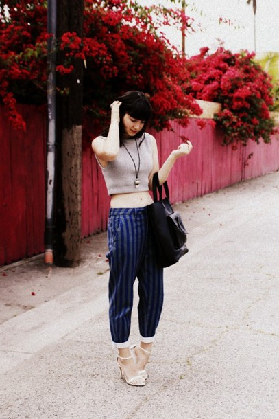 the stylish wanderer t-shirt pants jewels shoes bag nail polish