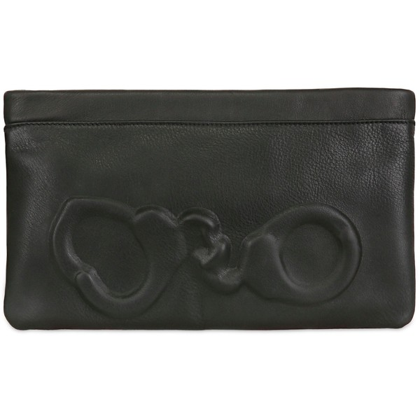 VLIEGER&VANDAM Handcuff Embossed Leather Clutch - Vlieger &... - Polyvore