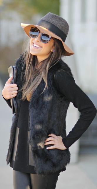 jacket clothes outfit vest floppy hat leather pants hat