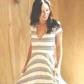 dress,stripes,spring dress,love,boho,bohemian,chic,playful,sexy,lovestitch,striped dress,maxi dress,summer dress,v neck dress