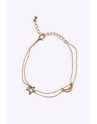 ASOS Fashion Finder | Urban Outfitters Moon & Star Bracelet Gold