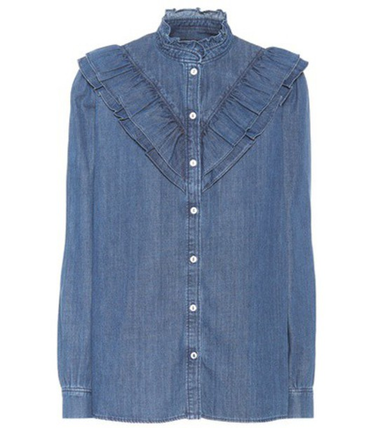 A.P.C. shirt denim shirt denim blue top