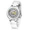 Automatic ceramic white watch - melodi