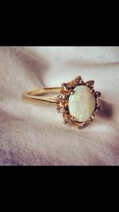 jewels,ring,gold,opal,opal ring