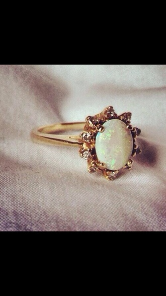 jewels ring gold opal opal ring