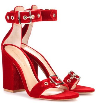 sandals velvet sandals velvet red shoes