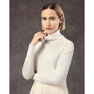 top turtleneck turtleneck top white white crop tops cream ribbed ribbed crop top ribbed top made in los angeles minimalist saul ribbed cardigan