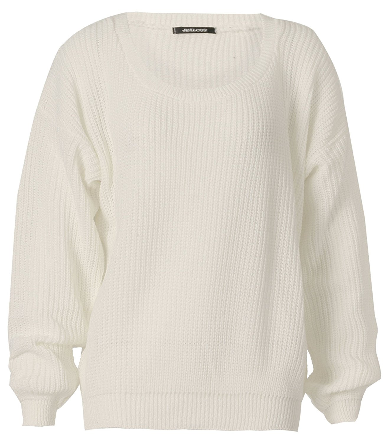 Women's Long Sleeves Baggy Style Oversize Sweater at Amazon ...
