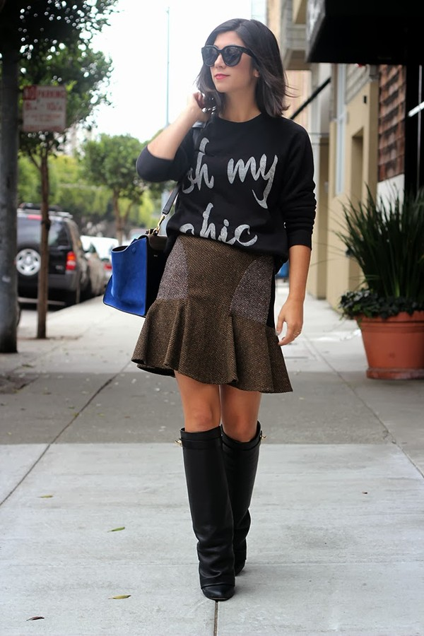 this time tomorrow sweater skirt shoes bag sunglasses