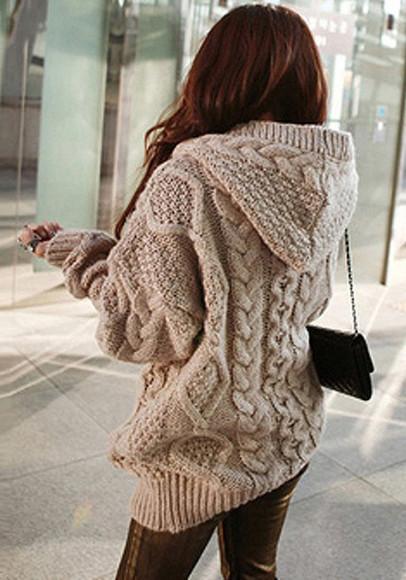 knitwear sweater hoodie knitted sweater oversized oversized sweater