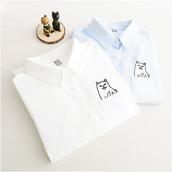 blouse,kawaii,cats,embroidered,embroidered blouse,harajuku,japanese fashion,jfashion,fairy kei,pastel,mori girl,ulzzang,korean fashion,K-pop,cat blouse,cat print top,cat printed,dejavucatstorenvy,tumblr,tumblr otufit,tumblr sponsor,tumblr girl,dejavucat