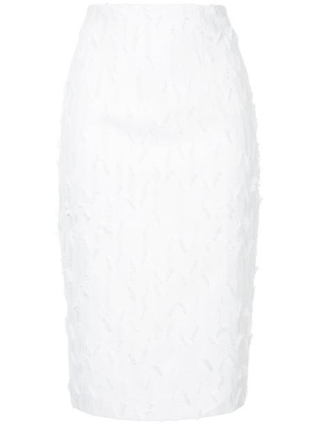 Manning Cartell skirt loose women white cotton
